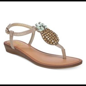 Carlos by Carlos Santana sandals with Pineapples